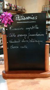 Carte des pâtisseries Arômes et Gourmandises
