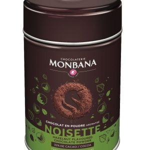 chocolat en poudre aromatisé noisette monbana
