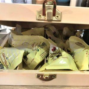 coffret 12 fleurs thé blanc