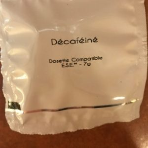 dosettes décaféiné boite