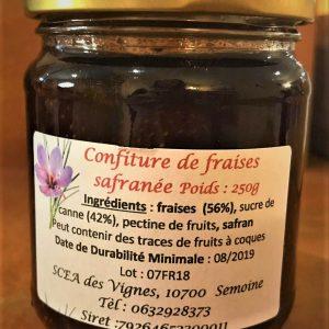 confiture fraise safran