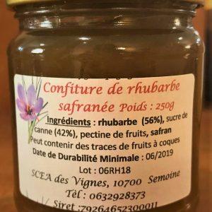 confiture rhubarbe safran
